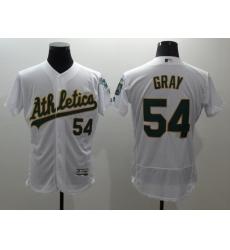 Men's Oakland Athletics #54 Sonny Gray White Flexbase Collection Stitched Baseball Jersey